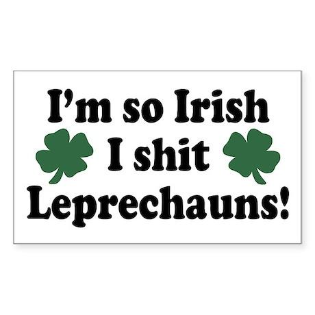 Irish Shit Leprechauns Rectangle Sticker