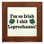 Irish Shit Leprechauns Framed Tile