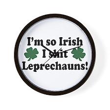 Irish Shit Leprechauns Wall Clock