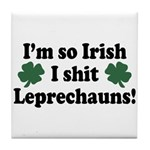 Irish Shit Leprechauns Tile Coaster
