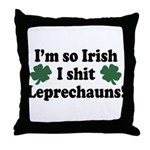 Irish Shit Leprechauns Throw Pillow