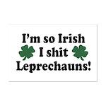Irish Shit Leprechauns Mini Poster Print