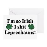 Irish Shit Leprechauns Greeting Cards (Package of