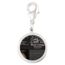 Back - Harp for Christmas Silver Round Charm