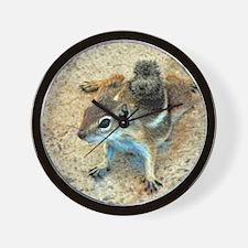 Desert Ground Squirrel Wall Clock