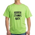 Rubber Stamps Rock Green T-Shirt
