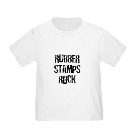 Rubber Stamps Rock Toddler T-Shirt