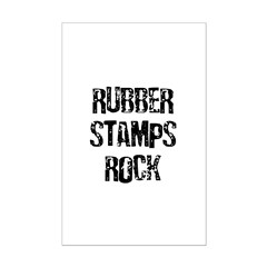 Rubber Stamps Rock Posters