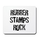 Rubber Stamps Rock Mousepad
