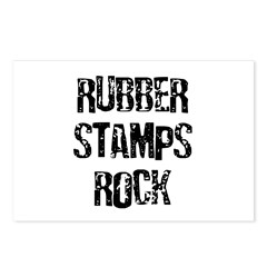 Rubber Stamps Rock Postcards (Package of 8)