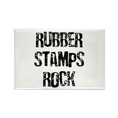 Rubber Stamps Rock Rectangle Magnet