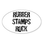 Rubber Stamps Rock Oval Sticker
