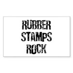 Rubber Stamps Rock Rectangle Sticker