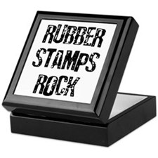 Rubber Stamps Rock Keepsake Box