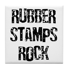 Rubber Stamps Rock Tile Coaster