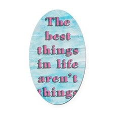 Inspirational Quote Oval Car Magnet