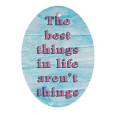 Inspirational Quote Oval Ornament