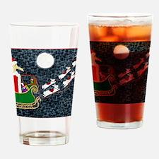 Santa Dachshund Balloon Drinking Glass