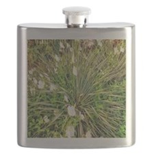 Agave with White Flowers Flask