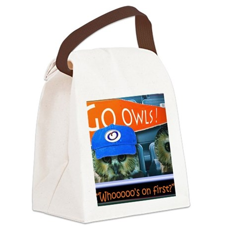 Whos on first Canvas Lunch Bag