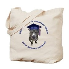 Pit bull is smarter - circle Tote Bag