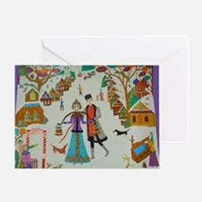 Russian Village in Winter Balloon Greeting Card