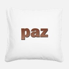Copper Spanish Peace Square Canvas Pillow