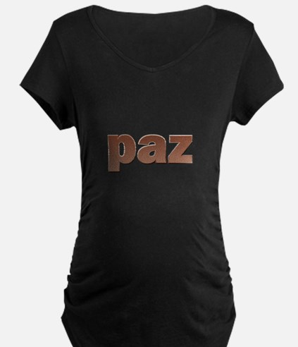 Copper Spanish Peace Maternity T-Shirt