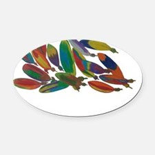 Native American Oval Car Magnet