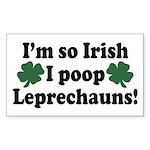 Irish Poop Leprechauns Rectangle Sticker