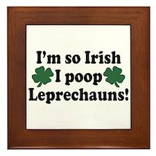 Irish Poop Leprechauns Framed Tile