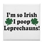 Irish Poop Leprechauns Tile Coaster