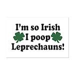 Irish Poop Leprechauns Mini Poster Print