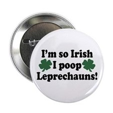 Irish Poop Leprechauns Button