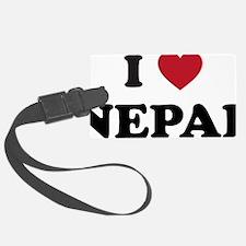 I Love Nepal Luggage Tag