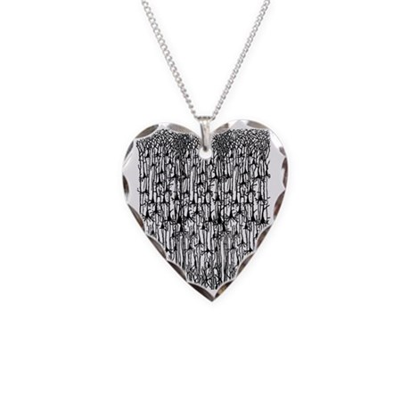 Neurons Necklace Heart Charm