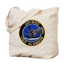 uss glennon patch transparent Tote Bag
