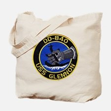 uss glennon patch transparent Tote Bag
