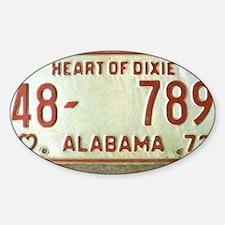 Heart of Dixie Alabama Car Tag Shou Decal