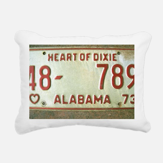 Heart of Dixie Alabama C Rectangular Canvas Pillow