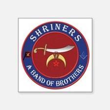 "SRHINERS - A Band of Brothe Square Sticker 3"" x 3"""