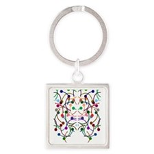 Neurons, Neurons Square Keychain