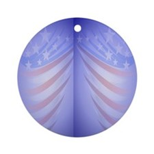 FlipFlop Faded Flag Round Ornament