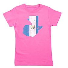 Guaemala Flag and Map Aged Girl's Tee