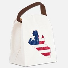 Liberia Flag and Map Aged Canvas Lunch Bag
