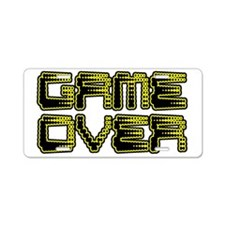 Game Over Aluminum License Plate
