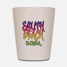 South Beach Graffiti B Shot Glass