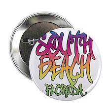 """South Beach Graffiti B 2.25"""" Button"""
