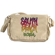 South Beach Graffiti B Messenger Bag