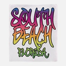 South Beach Graffiti B Throw Blanket